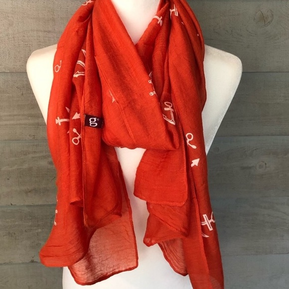Accessories - NWOT GORGEOUS Orange Scarf or Wrap
